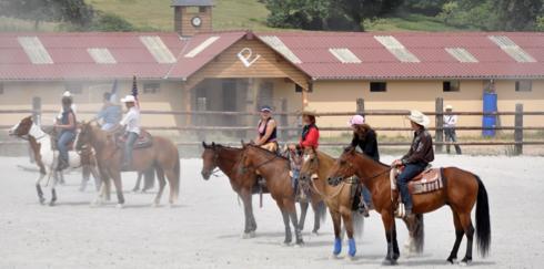 Ranch d'équitation western près de Bernay, dans l'Eure